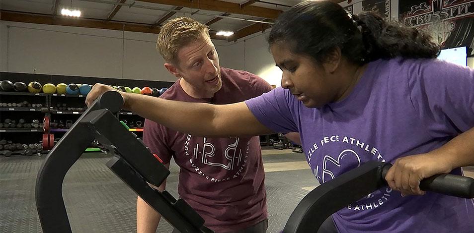 Abrió un gimnasio exclusivo para personas con autismo