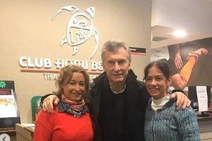 Macri y Vidal visitaron el Club Honu Beach de Mar del Plata