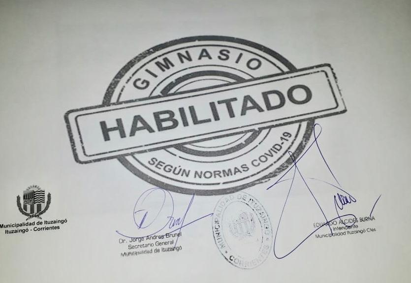La ciudad correntina de Ituzaingo decidió permitir la reapertura de gimnasios