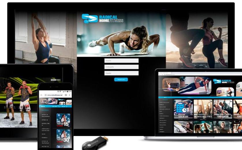 Radical Fitness presenta la plataforma Radical Home Fitness