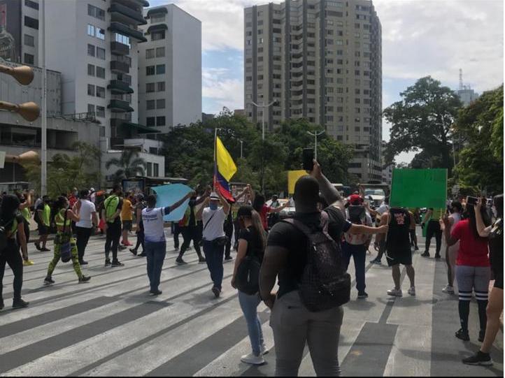 Se realizó una protesta de gimnasios en Colombia
