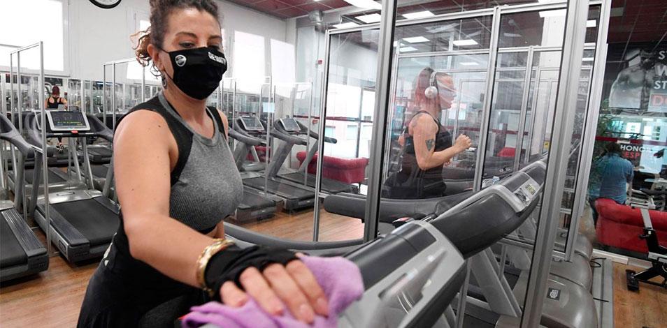 Los gimnasios en Europa registraron una tasa de contagios de Covid-19 del 0,78% cada 100 mil visitas, según un estudio de EuropeActive