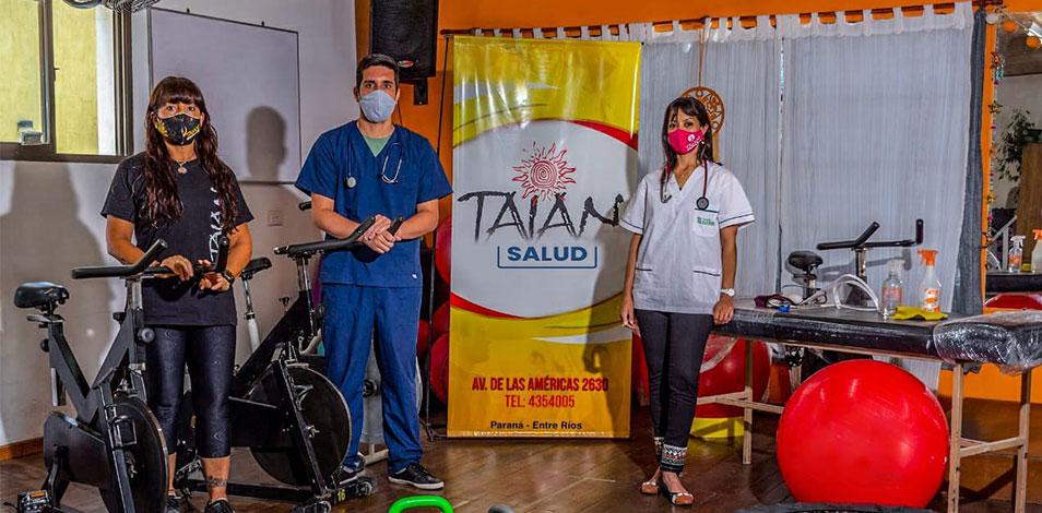 El gimnasio Taian, de Paraná, ofrece un servicio de rehabilitación post COVID-19