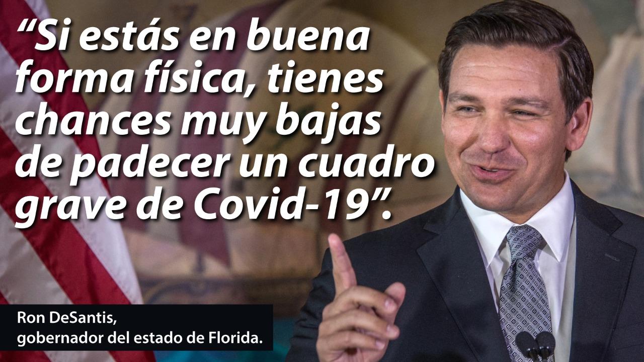 """""""Las personas activas se enferman menos"""", dijo Ron DeSanti, gobernador del estado de Florida"""