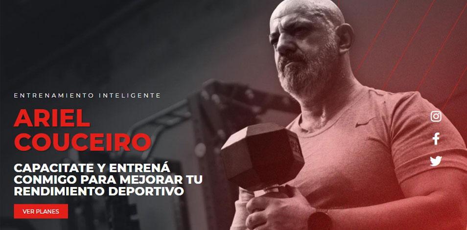 El entrenador Ariel Couceiro estrena logo y nuevo sitio web