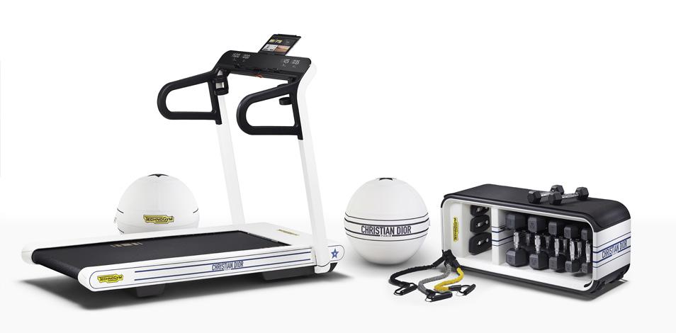 Dior y Technogym crearon una serie exclusiva de productos de fitness