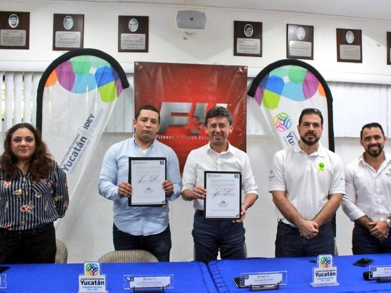 Fitness and Health firmó un acuerdo con el Instituto de Deporte de Yucatán