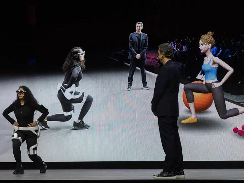 Samsung presentó el exoesqueleto y entrenador virtual GEMS