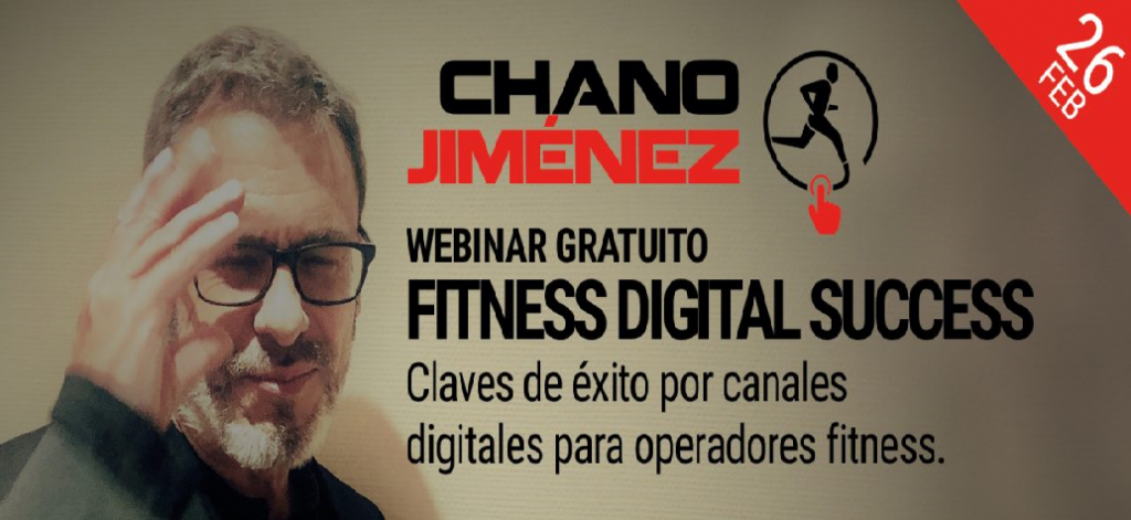 El consultor español Chano Jiménez dictará un webinar sobre Fitness Digital Success
