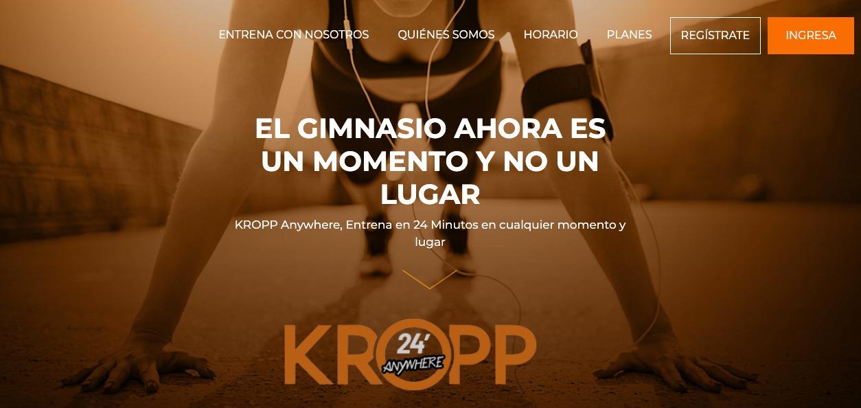 El 1 de mayo Kropp pondrá en marcha su plataforma para entrenar online