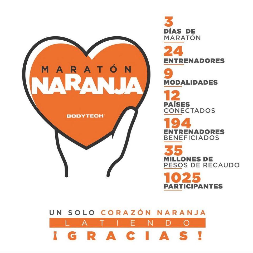 La Maratón Naranja, organizada por Bodytech, recaudó $35 millones de pesos colombianos