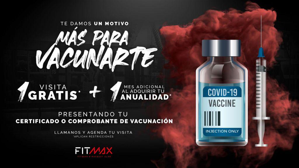 Los gimnasios FitMax otorgan beneficios a los usuarios que estén vacunados